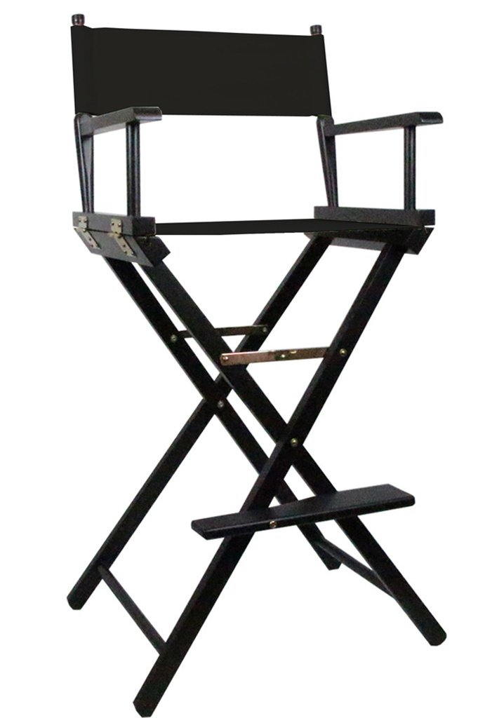 Tall Directors Makeup Chair with Black Canvas