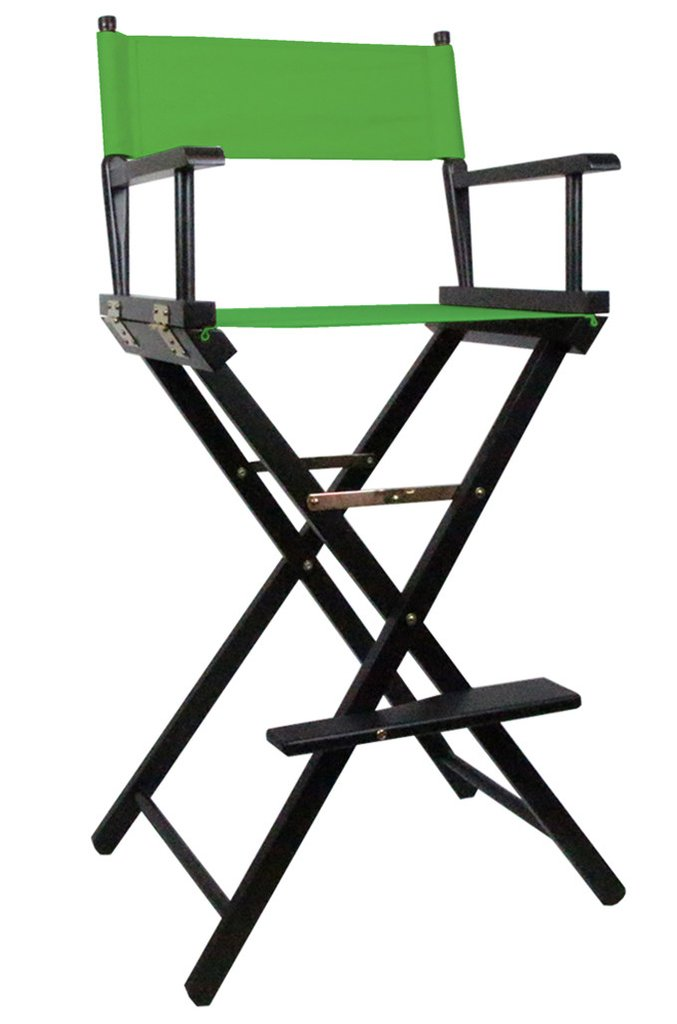 Tall Directors Makeup Chair with Green Canvas