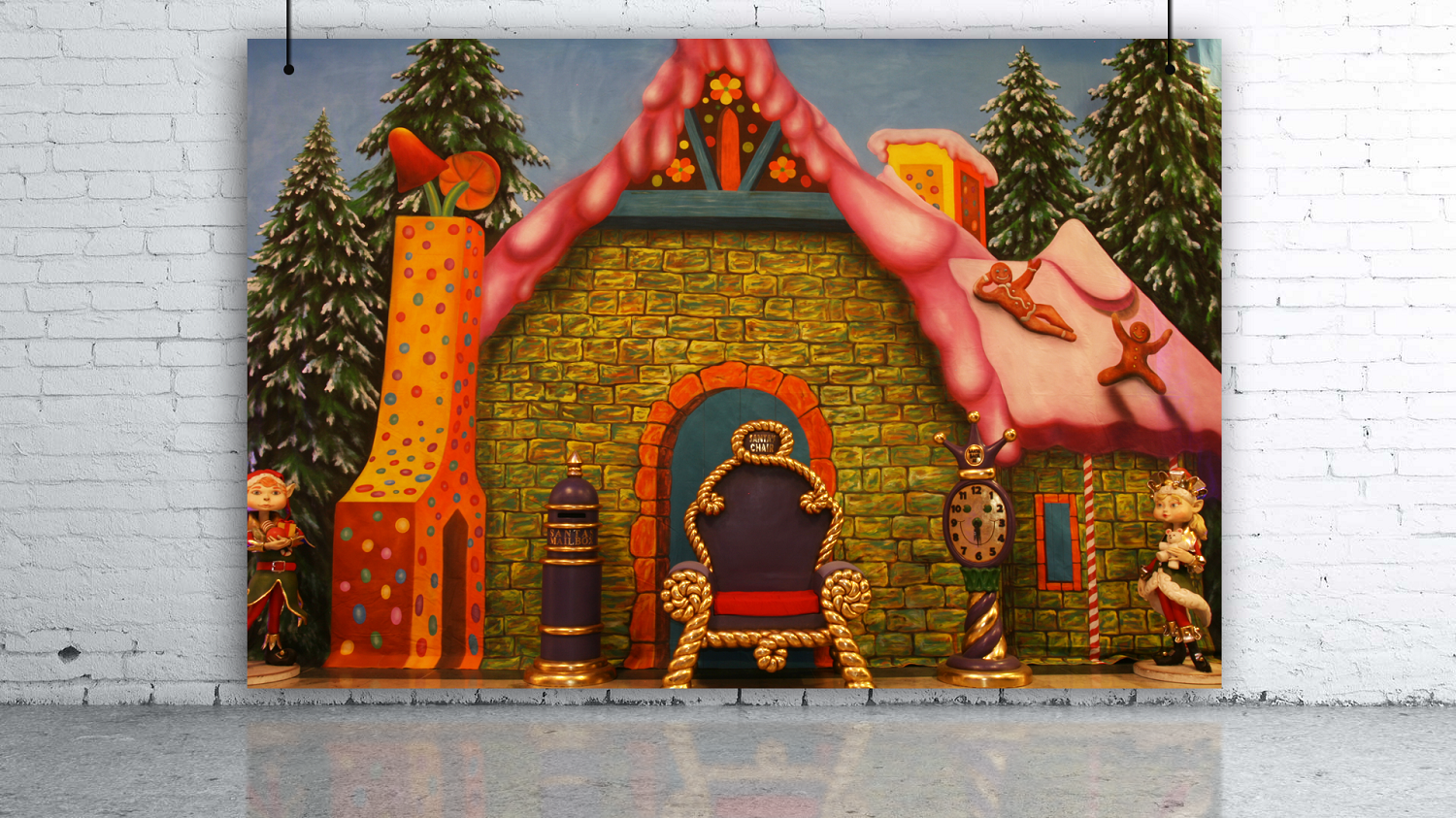 Winter Ginger Bread House Backdrop 5m x 7m